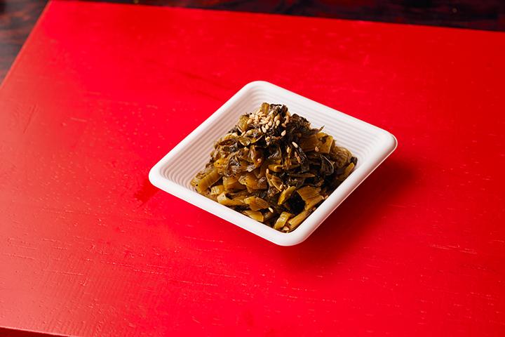 高菜の黒胡椒炒め